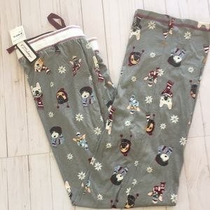 NWT PJ Salvage Winter Dogs Bottoms Size XL